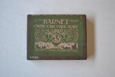 Camera plates [Barnet Orthochromatic Plates]
