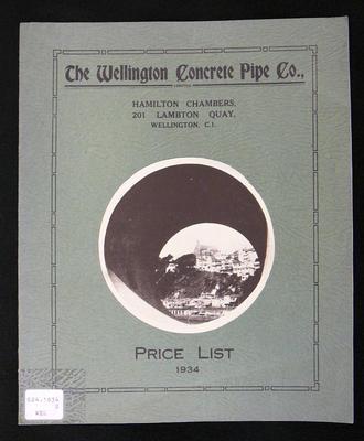 Price list : the Wellington Concrete Pipe Co. Ltd