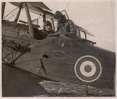 Photograph album of aircraft and Airforce and army men
