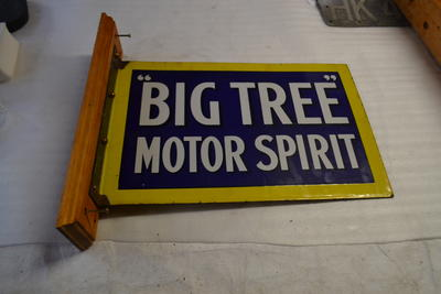 "Sign - ""Big Tree"" Motor Spirit"