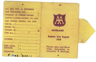 Membership Cards [Automobile Association]