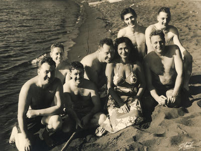 Photograph of TEAL staff rest and recreation in Tahiti.
