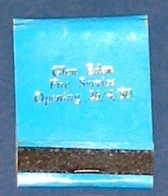 Matchbook [Glen Eden Fire Station Opening 26.4.80]