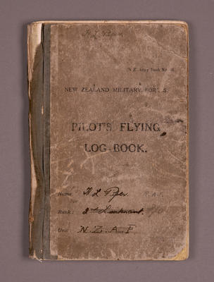 Pilot's flying log-book [Harold Lord Piper]; New Zealand Army; Harold Lord Piper; 24 Feb 1926-10 Aug 1928