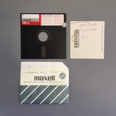 """Floppy Disk [Game for Commodore 64: """"Cave Fighter""""]"""