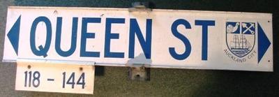 Sign - Queen Street Auckland City