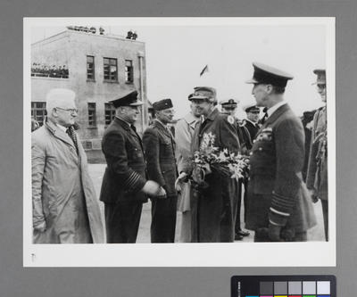 [Unidentified air force ceremony]