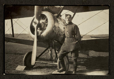 [Royal Flying Corps photograph album page]