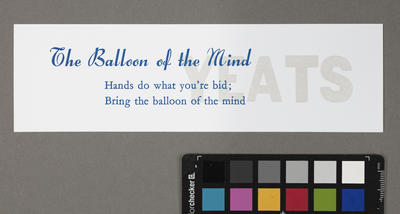 The balloon of the mind