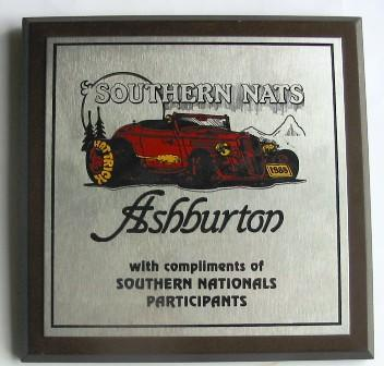 Plaque - RE-PO Southern Nationals