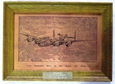 Plaque [RAF Lancaster Mk I]