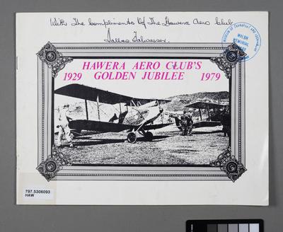 Hawera Aero Club's golden jubilee 1929-1979
