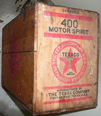 Wooden crate or packing case [Texaco]