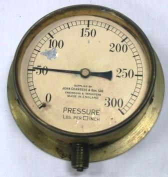 Gauge - Pressure; John Chambers and Son Limited