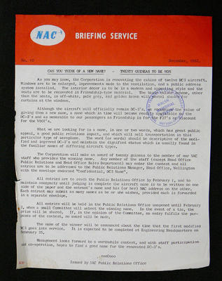 NAC briefing service
