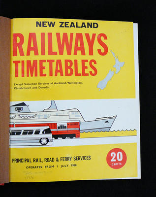 New Zealand Railways timetables of principal train and road services