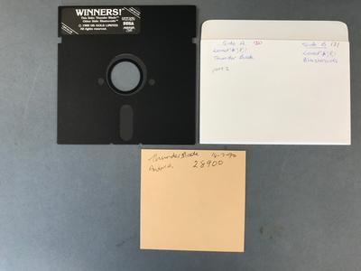 Floppy Disk [Commodore 64 Games: Thunder Bade and Blasteroids]