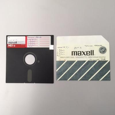 """Floppy Disk [Game for Commodore 64: """"Saucer Attack""""]"""