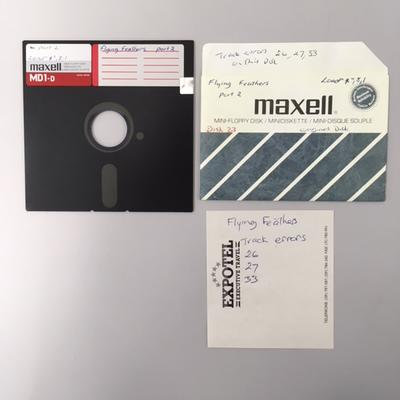 """Floppy Disk [Game for Commodore 64: """"Flying Feathers""""]"""