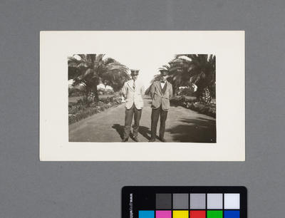 [Driver Clifford Byron Adock and unidentified]