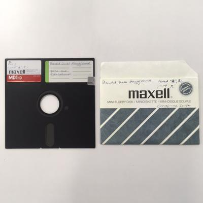 """Floppy Disk  [Game for Commodore 64: """"Donald Duck's playground""""]"""