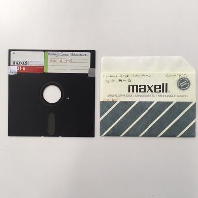 """Floppy Disk  [Game for Commodore 64: """"Mickey's Space Adventure""""]"""