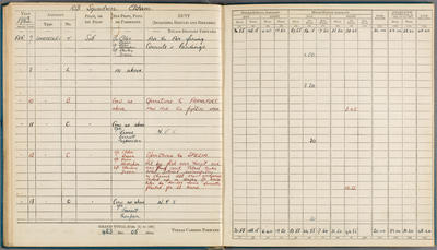 [Pilot's flying log book and log book entry instructions for S/L John Stafford Stoneman]