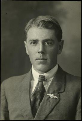 Black and white studio portrait of Richard Ramsay Morton