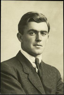 Black and white studio portrait of T. Coleman Lowry (?)