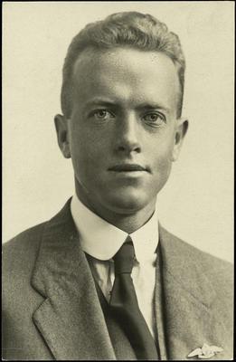 Black and white studio portrait of William Patrick Coles