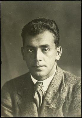 Black and white studio portrait of Charles Barton