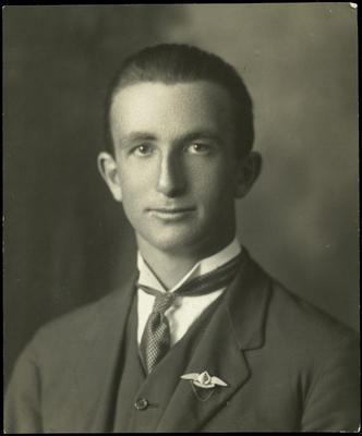 Black and white studio portrait of Edmund Niven Stewart