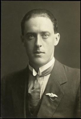 Black and white studio portrait of Lawson Field