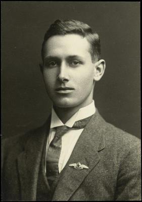 Black and white studio portrait of Maurice Danham Sinclair