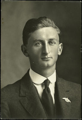 Black and white studio portrait of George Clarence Hyde