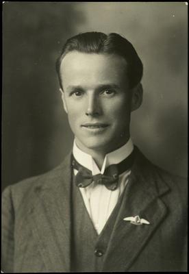 Black and white studio portrait of Charles Arthur Holt