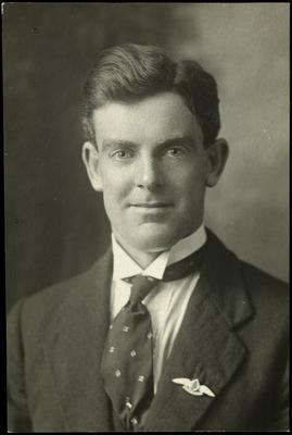 Black and white studio portrait of Robert Hector Gray