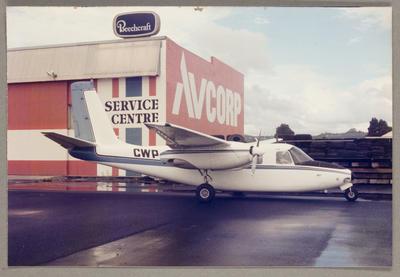ZK-CWP Aero Commander 500 April 1986 Ardmore