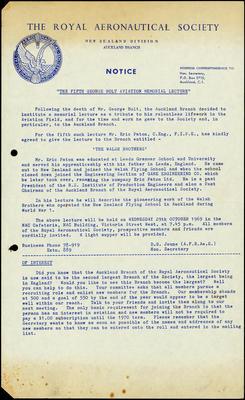 Royal Aeronautical Society notice
