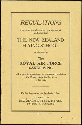 Royal Air Force Cadet Wing booklet