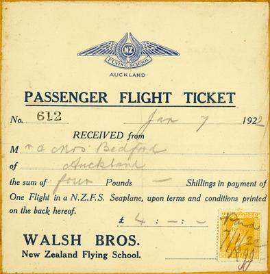 Passenger flight ticket