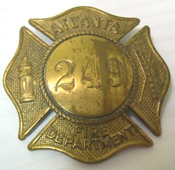Hat Badge [Atlanta Fire Department]
