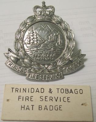 Hat Badge [Trinidad and Tobago Fire Service]