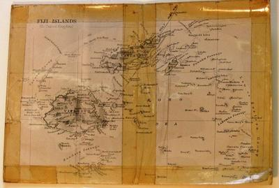 Map of Fiji Islands (to United Kingdom)