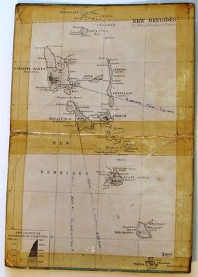 Map of New Hebrides (to United Kingdom & France)