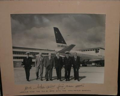 Looking over the DC-8, 1970 with the Hon. Peter Gordon