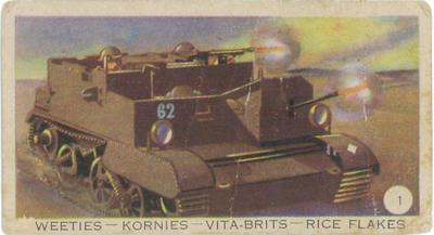 """""""Bren"""" gun carrier engaging enemy"""