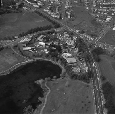 [Aerial view of Western Springs]