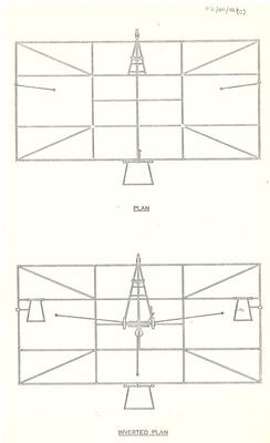 Copy of diagrams of Pearse number 1 plane top and inverted views