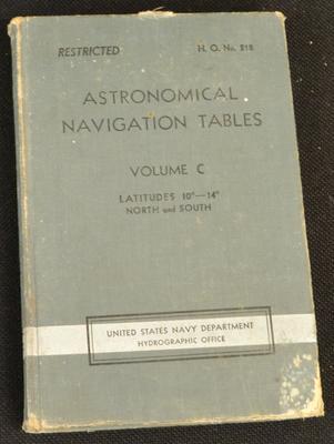 Astronomical navigation tables